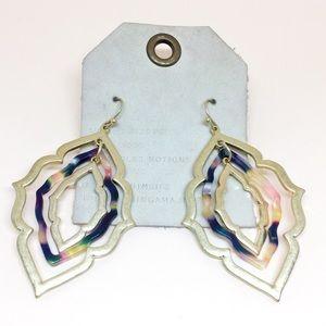 NWT Anthropologie Rhombus Drop Earrings
